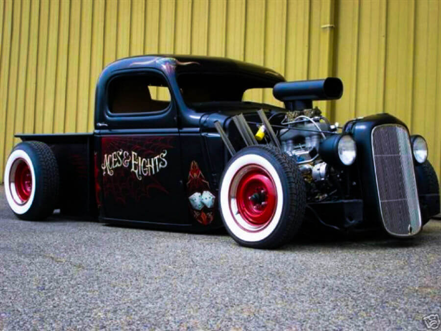 Eights and aces rat rod car